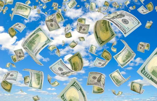 Визуализация денежного дождя – к доходам