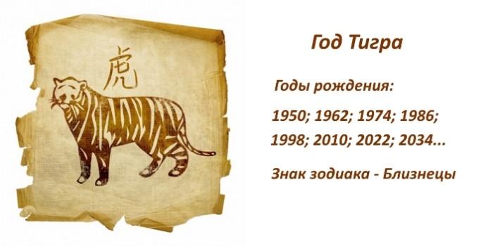 Год Тигра – характеристика знака